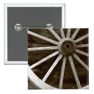 Botón de la rueda del carro pin cuadrado
