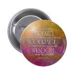 Botón de la sabiduría del valor de la serenidad pins