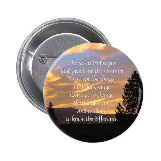 Botón de la salida del sol del rezo de la serenida pin