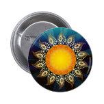Botón de la salida del sol pin redondo de 2 pulgadas