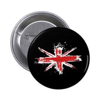 Botón de la salpicadura de Union Jack Pin Redondo De 2 Pulgadas