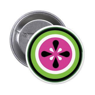 Botón de la sandía pin redondo de 2 pulgadas