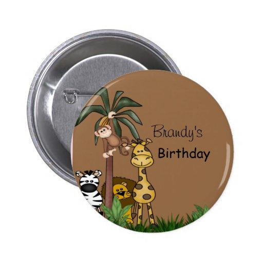Botón de la selva pin redondo de 2 pulgadas