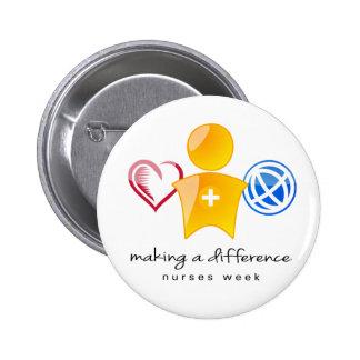 Botón de la semana de las enfermeras pin redondo de 2 pulgadas