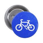 Botón de la señal de tráfico de bicicleta pins