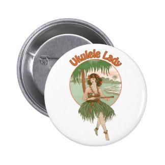 Botón de la señora #1 del Ukulele
