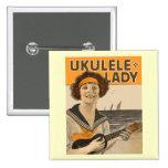 Botón de la señora #2 del Ukulele Pin