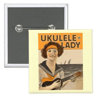 Botón de la señora 2 del Ukulele Pin
