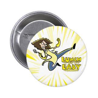 Botón de la señora del almuerzo pin redondo de 2 pulgadas