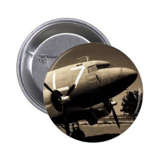 Botón de la sepia del C-47 Pins