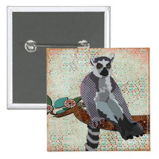 Botón de la serenidad del Lemur Pins