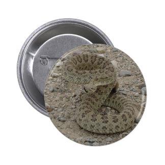 Botón de la serpiente de cascabel de pradera R0009 Pin Redondo De 2 Pulgadas
