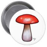 Botón de la seta del taller de Elfland Pins