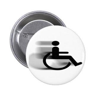 Botón de la silla de ruedas que apresura