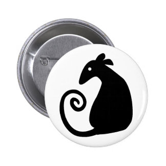 Botón de la silueta de la rata pins