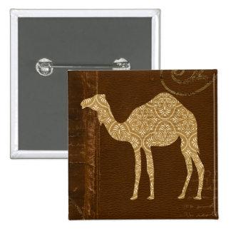 Botón de la silueta del camello pin