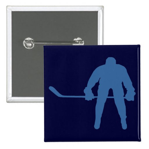 Botón de la silueta del hockey pin