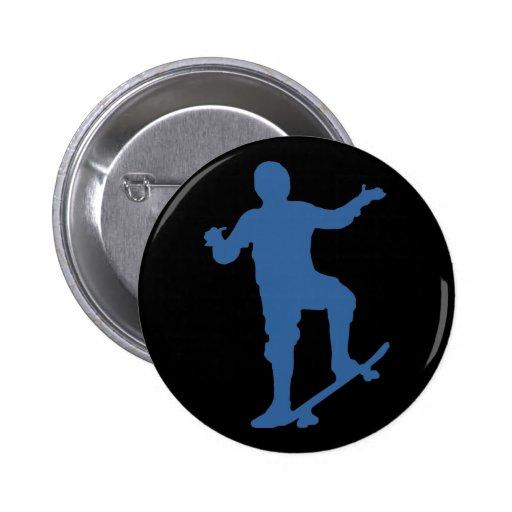 Botón de la silueta del skater pins