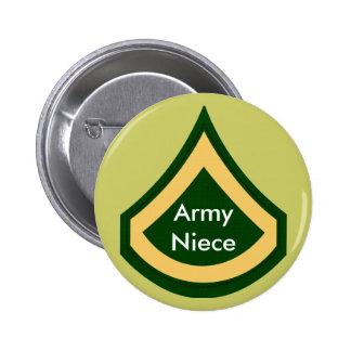 Botón de la sobrina del ejército pin