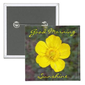 Botón de la sol de la buena mañana