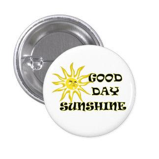 Botón de la sol del buen día de Sun Pin Redondo De 1 Pulgada
