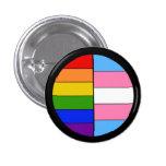 Botón de la solidaridad de GLBT Pin Redondo De 1 Pulgada