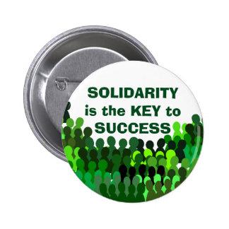 Botón de la solidaridad pin redondo de 2 pulgadas