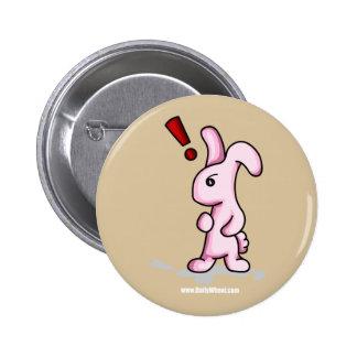 Botón de la sorpresa del conejito pin