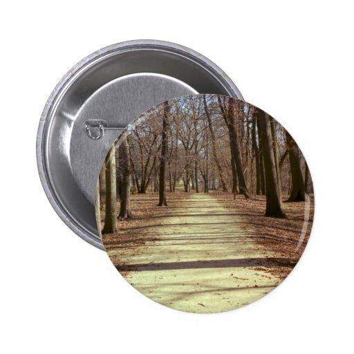 Botón de la tarde del invierno pin redondo de 2 pulgadas