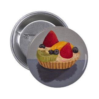Botón de la tarta de la fruta pin