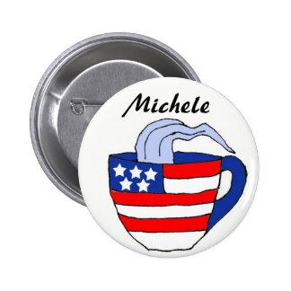 Botón de la taza de té de Micaela Bachmann del BA Pin