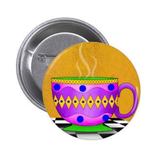 Botón de la taza del Cappuccino Pin Redondo De 2 Pulgadas