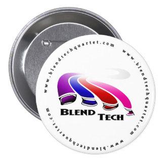 Botón de la tecnología de la mezcla pin redondo de 3 pulgadas