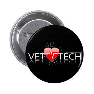 botón de la tecnología del veterinario pin redondo de 2 pulgadas