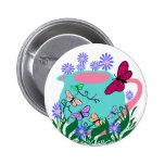 botón de la tetera de la mariposa del papillon pin