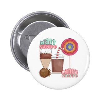 Botón de la tienda del caramelo pins