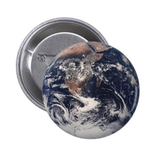 Botón de la tierra pin redondo de 2 pulgadas