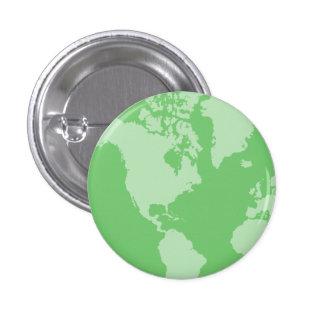 Botón de la tierra verde pin redondo de 1 pulgada