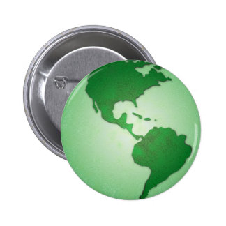 Botón de la tierra verde pin redondo de 2 pulgadas