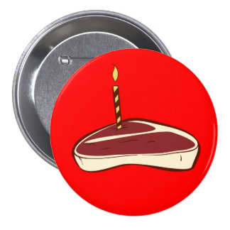 Botón de la torta de la carne de vaca pin redondo de 3 pulgadas