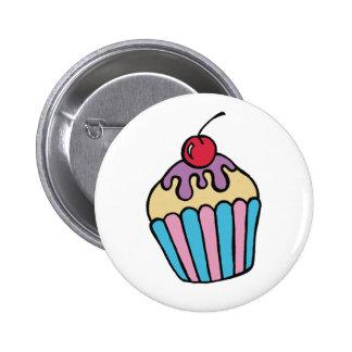Botón de la torta de la taza pins