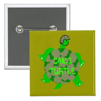 Botón de la tortuga de Camo Pin