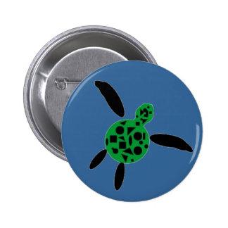 Botón de la tortuga de mar pins