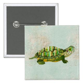 Botón de la tortuga del jade pin