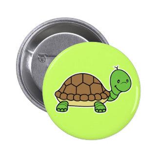 Botón de la tortuga pin redondo de 2 pulgadas