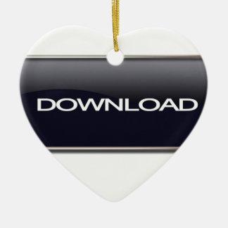 Botón de la transferencia directa adorno navideño de cerámica en forma de corazón