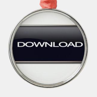 Botón de la transferencia directa adorno navideño redondo de metal