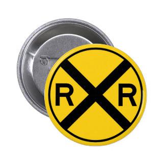 Botón de la travesía de ferrocarril pin redondo de 2 pulgadas