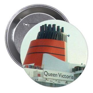 Botón de la travesía de la pila del QV Pin Redondo De 3 Pulgadas