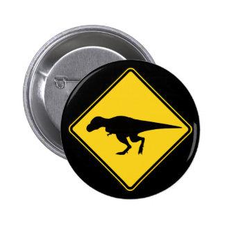 Botón de la travesía de T-Rex Pin Redondo De 2 Pulgadas